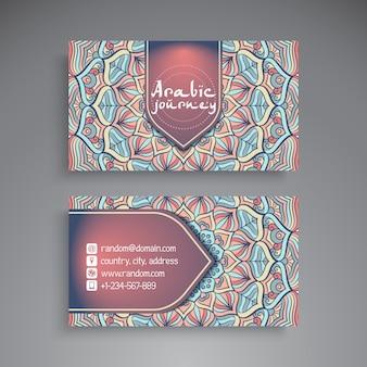 Visitenkarte vintage dekorative elemente ornamental floral visitenkarten orientalischen muster vektor-illustration