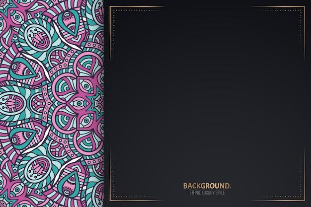 Visitenkarte. vintage dekoratives mandala. zierkartenschablone.