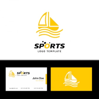 Visitenkarte von sport