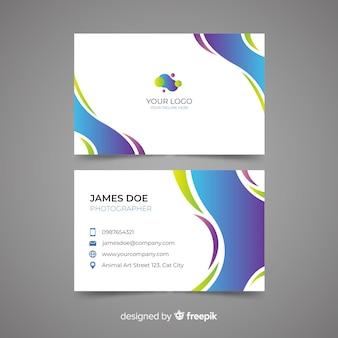 Visitenkarte vorlage abstrakte vorlage
