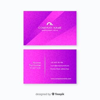 Visitenkarte vorlage farbverlaufsart