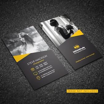 Visitenkarte vorlage für fotografie