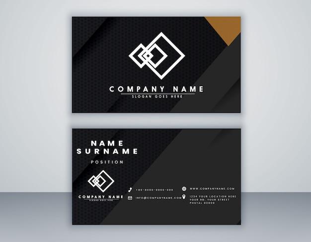 Visitenkarte vorlage geometrische schwarze und graue farbe modernes design