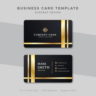 Visitenkarte vorlage gold design