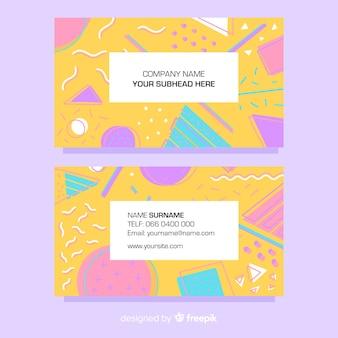 Visitenkarte vorlage memphis-stil