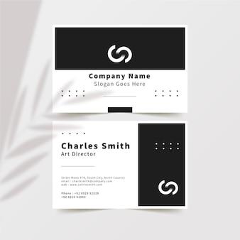 Visitenkarten des monochromen designs