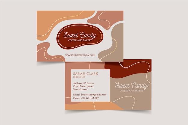 Visitenkarten-design mit pastellfarbenen flecken