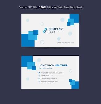 Visitenkarten-design oder visitenkarte und persönliche karte