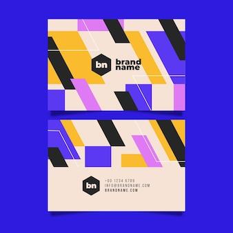 Visitenkarten geometrischen stil