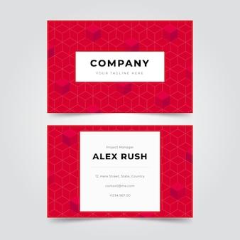 Visitenkarten im geometrischen stil