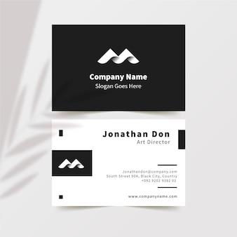 Visitenkarten im monochromen stil