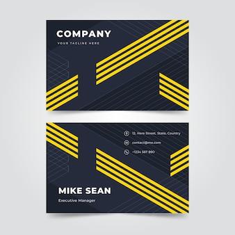 Visitenkarten mit geometrischem design
