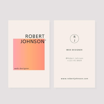 Visitenkarten mit pastellgradienten