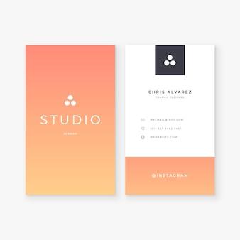 Visitenkarten mit pastellgradientenschablone
