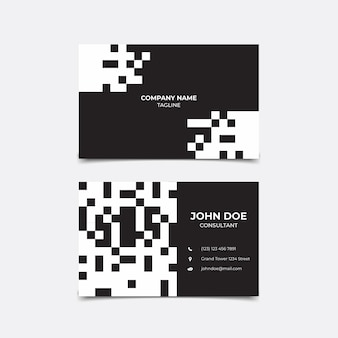 Visitenkarten-monochrom-konzept