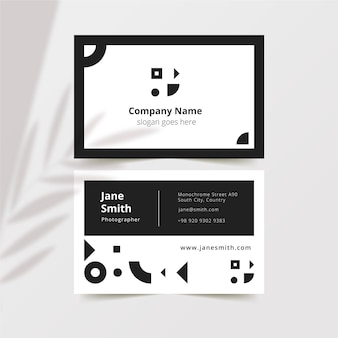 Visitenkarten monochromes design