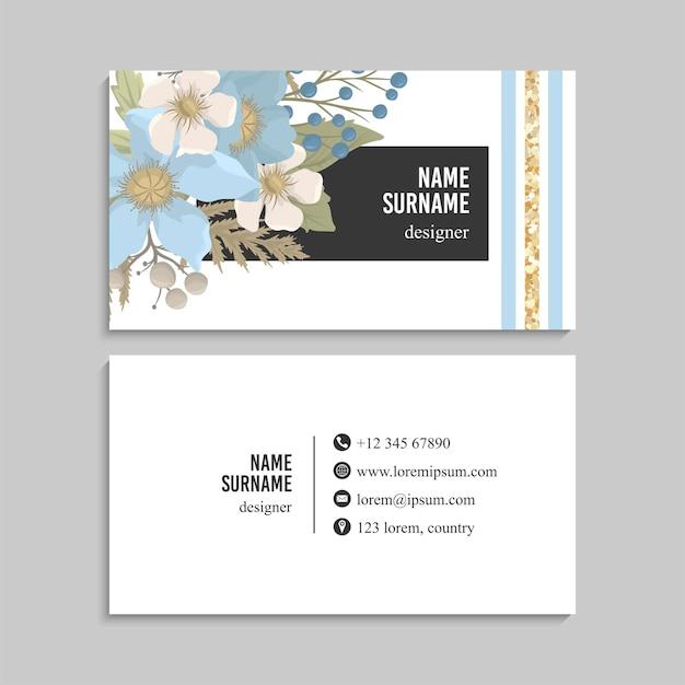Visitenkarten-set.