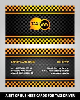 Flache Taxi Visitenkarte Mit Muster Kostenlose Vektor