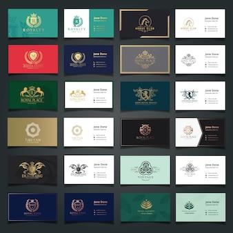 Visitenkarten und luxus-markenidentität vorlagen