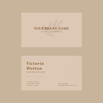 Visitenkarten-vorlagenvektor in pastellrosa