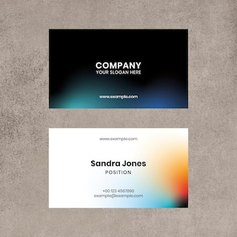 Visitenkarten-vorlagenvektor mit farbverlauf für technologieunternehmen im modernen stil