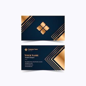 Visitenkartenschablone der goldfolie