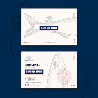 Visitenkartenschablone des japanischen restaurants