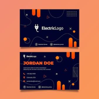 Visitenkartenvorlage für elektrikerservice