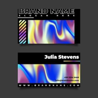 Visitenkartenvorlage im farbverlaufsstil
