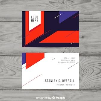 Visitenkartenvorlage im flachen design