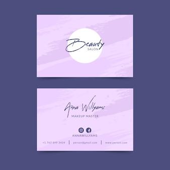 Visitenkartenvorlage in pastellfarben