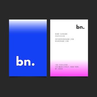 Visitenkartenvorlage mit farbverlauf