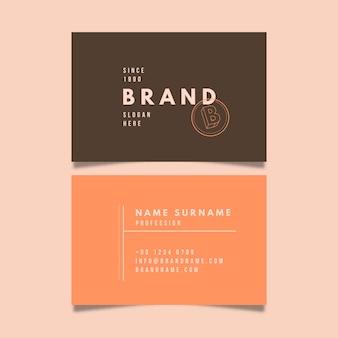Visitenkartenvorlage mit minimalistischem stil
