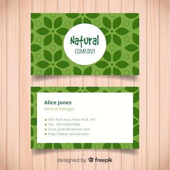 Visitenkartenvorlage mit natur-design