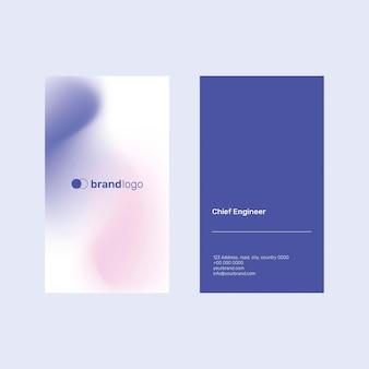 Visitenkartenvorlage mit violettem farbverlauf