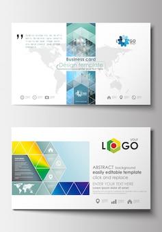 Visitenkartenvorlagen. cover design-vorlage mit mesh-farbverlauf