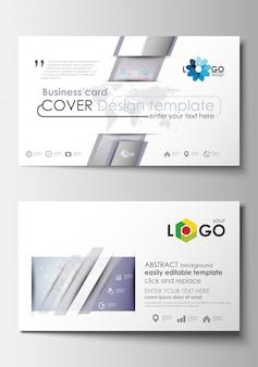 Visitenkartenvorlagen. Cover-Designvorlage. Molekülstruktur. Wissenschaft, medizinisches vecto