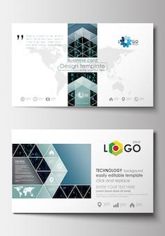 Visitenkartenvorlagen. cover-designvorlage