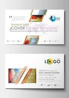 Visitenkartenvorlagen. cover-vorlage, leicht bearbeitbarer rohling, flaches layout.