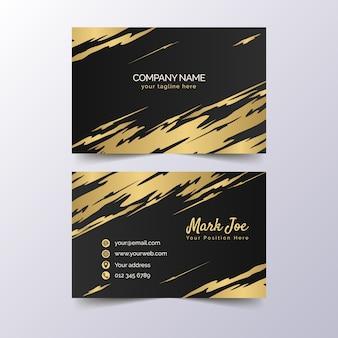 Visitenkarteschablone der goldenen flecke