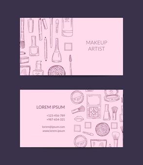 Visitenkarteschablone für schönheitsmarke