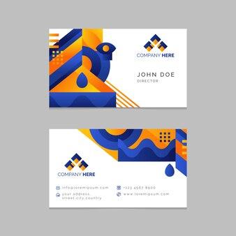 Visitenkarteschablone im abstrakten design