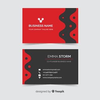 Visitenkarteschablone mit abstraktem design