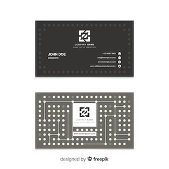 Visitenkarteschablone mit abstrakten formen