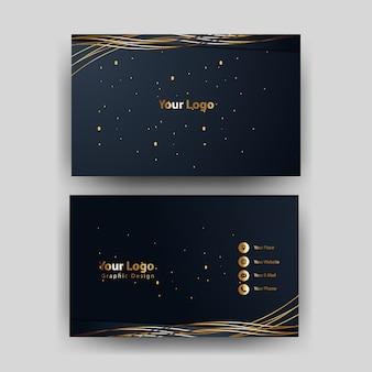 Visitenkarteschablone mit dem goldkonzept modern