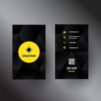 Visitenkarteschablone mit einem abstrakten design