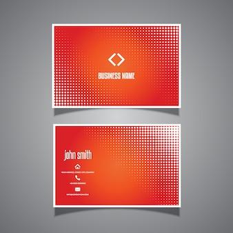 Visitenkarteschablone mit halbtonpunktdesign