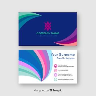 Visitenkarteschablone mit klaren farben