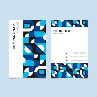 Visitenkarteschablone mit klassischem blauem konzept