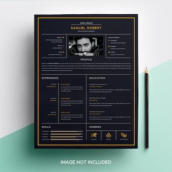 Visual cv resume-vorlage